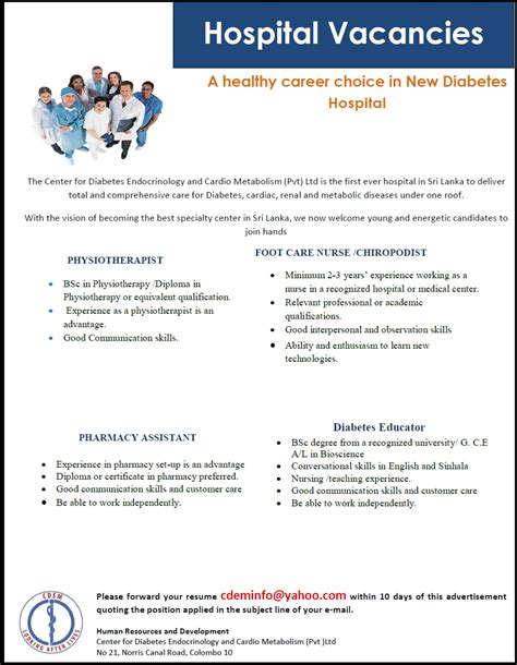 Diabetes Educator Jobs Physiotherapist Foot Care Nurse Chiropodist Pharmacy