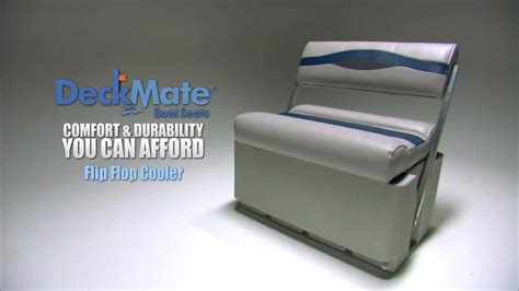 How To Make Back To Back Boat Seat Covers by Deckmate Flip Flop Cooler Pontoon Boat Seats Youtube