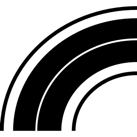 curved highway curve road  icon