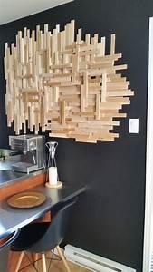 Objet Deco Bois Naturel : id e d coration salle de bain diy d co murale bois en ~ Teatrodelosmanantiales.com Idées de Décoration