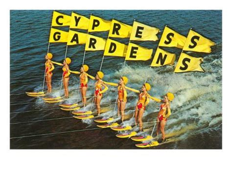 water skiers cypress gardens florida photo  allposterscom