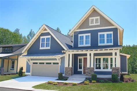 bungalow house plans with front porch two story home blue exterior well kept landscaping http blackcreekmtn black creek