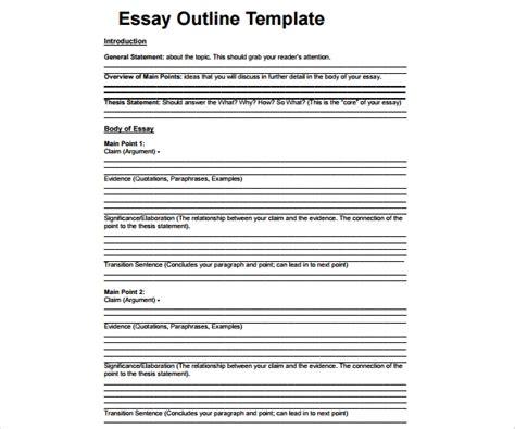 general essay outline templates   premium