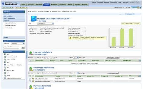 microsoft help desk software software license tracking asset management software