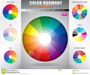Color Harmony / Color Wheel With Shade Of Colors Stock ...