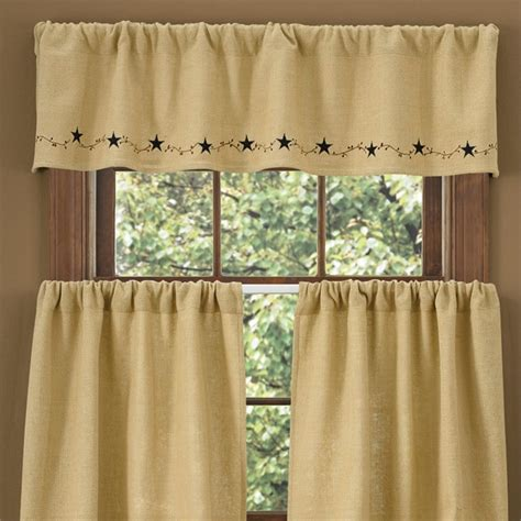 burlap lined curtain valance