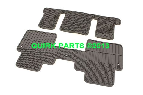 2012 2014 chevrolet traverse 3rd 2nd row rubber floor