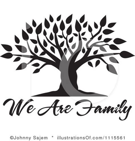 Family Tree Clip Black And White Family Tree Clipart Clipground