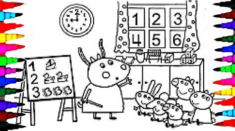 PEPPA PIG Coloring Book Pages Kids Fun Art Activities For