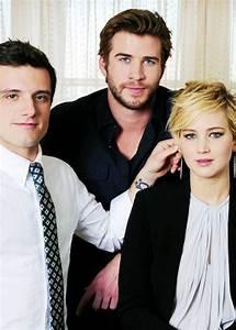 Jennifer Lawrence, Liam Hemsworth and Josh Hutcherson ...