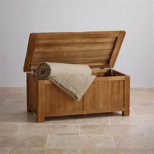 Original Rustic Blanket Box In Solid Oak Oak Furniture Land