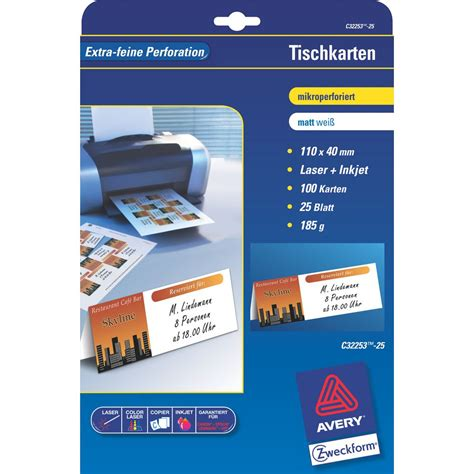 avery place card avery c32253 25 place cards 40 x 110 mm 4 labels per sheet white package 25 sheets staples 174