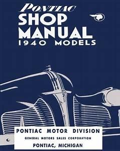 1940 Pontiac Shop Service Repair Manual Book Engine