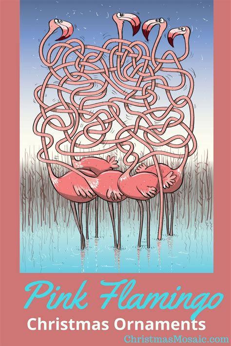 pink flamingo christmas tree ornaments christmas mosaic