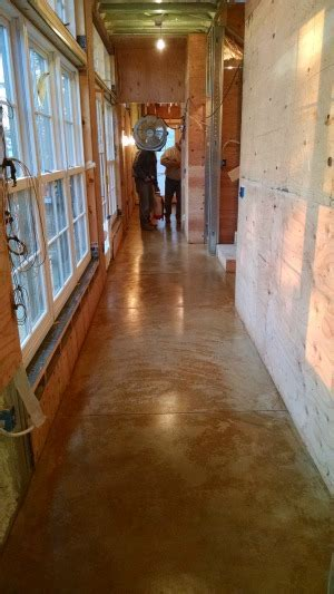 Concrete Floor Staining in Bar Harbor, Me. by Day's