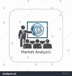 Market Analysis Icon Business Concept Flat Stock Vector ...