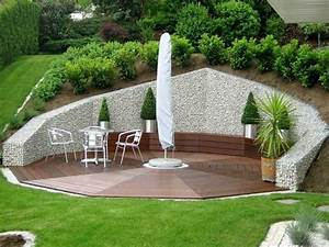 mur gabion dans le jardin moderne un joli element With maison en pente forte 1 mur gabion dans le jardin moderne un joli element fonctionnel