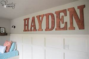 big wood wall letters shanty 2 chic With letters to go on walls