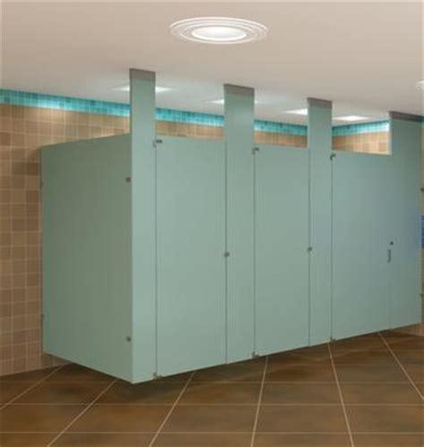 ceiling braced bathroom stall dividers
