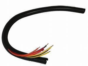Black 20 U0026 39  Feet 1 U0026quot  Split Loom Tubing Wire Conduit Hose
