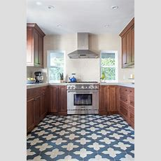 Kitchen Inspiration Bold & Beautiful Patterned Floors In