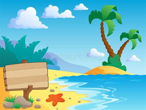 Beach Theme Scenery 2 Stock Vector. Illustration Of Scene