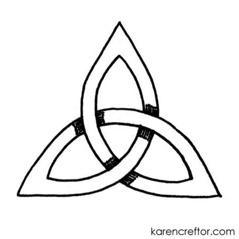 draw  triquetra step  step tutorial compass method