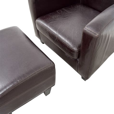 Ikea Leather Chair With Ottoman by 52 Ikea Ikea Bonded Brown Leather Chair And Ottoman