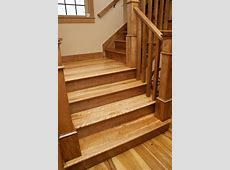 Birdseye Maple Stairs Sustainably Harvested and Milled