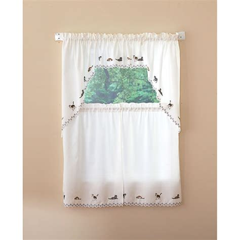 cats embroidered kitchen curtains boscovs