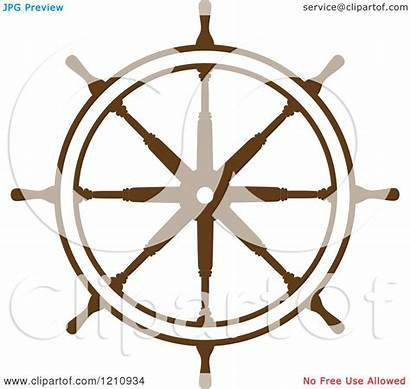 Steering Helm Wheel Ship Clipart Brown Tradition