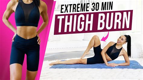 minute extreme pilates thigh workout  equipment