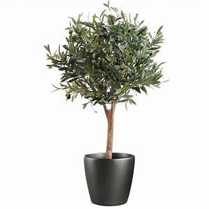 Arbre En Pot : olivier artificiel new arbre boule 90 cm arbres ~ Premium-room.com Idées de Décoration