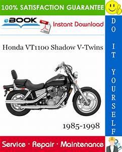 Honda Vt1100 Shadow 1985 1998 Service Manual Part Diagram