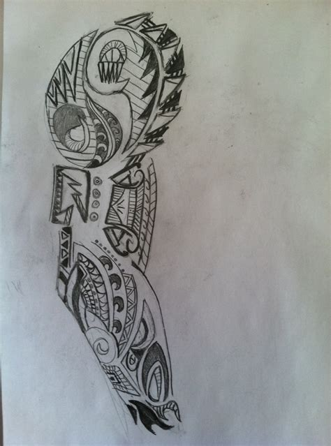 hand sketch  tribal tattoo  arm wandering