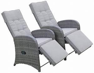 Garten Lounge Sessel : garden pleasure loungesessel salerno 2er set polyrattan verstellbar inkl auflagen grau ~ A.2002-acura-tl-radio.info Haus und Dekorationen