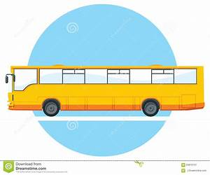 Vector Yellow City Bus. Stock Vector - Image: 63870701