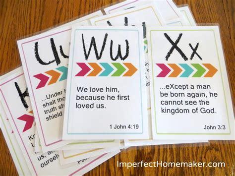 Printable ABC Bible Memory Verses for Preschoolers