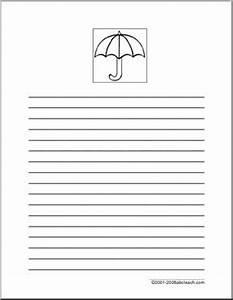 Writing Paper: Umbrella | abcteach
