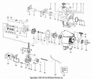 Poulan Pp331 Gas Trimmer  331 Gas Trimmer Parts Diagram For Engine Assembly