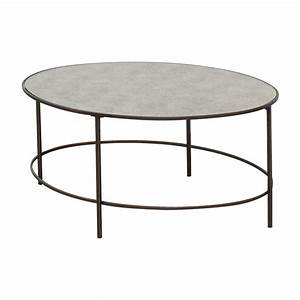 76 off west elm west elm oval metal and mirror coffee With west elm mirrored coffee table