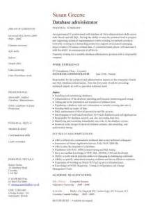 database management analyst resume it cv template cv library technology description