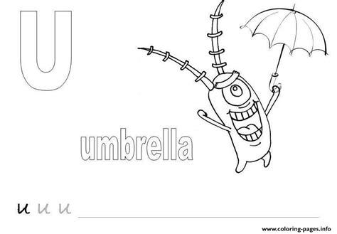spongebob plankton  umbrella alphabet  freed