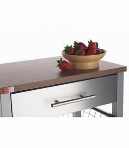 Table De Cuisine En Bois : desserte de cuisine en aluminium et bois ~ Teatrodelosmanantiales.com Idées de Décoration