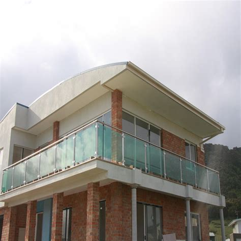 high  ss frosted glass villa balcony railing design