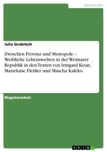 Mascha Kaléko - Im Exil: Eine Analyse - GRIN