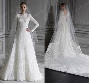 aliexpresscom buy new fashionable sexy a line scoop With long sleeve a line wedding dress