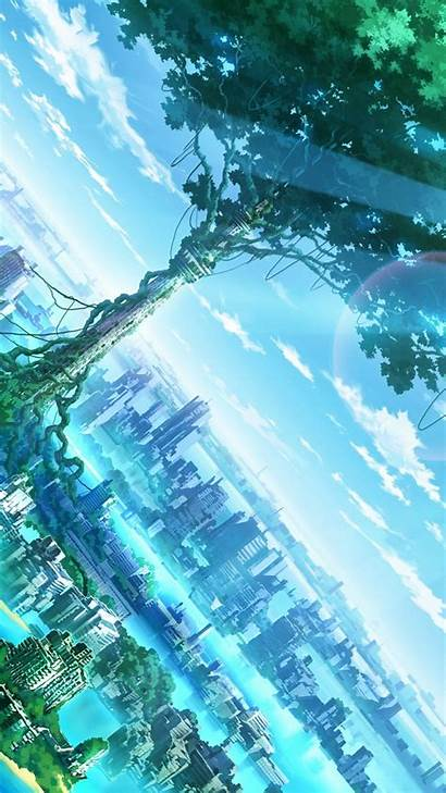 Anime Landscape Phone Wallpapers Mobile 4k Scenery