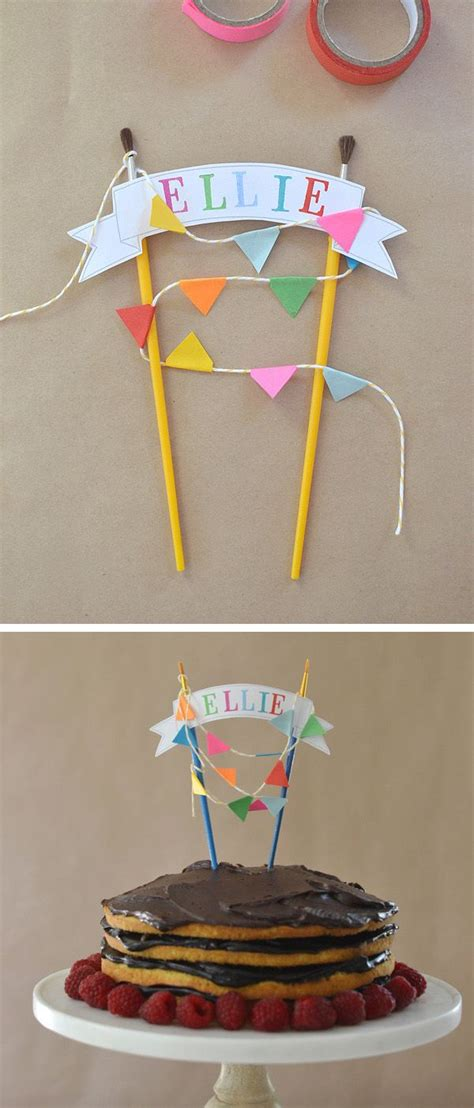 diy cake topper with template kids parties birthday