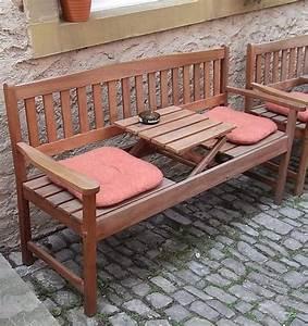 Gartenbank Mit Klapptisch : holzbank mit klapptisch ~ Markanthonyermac.com Haus und Dekorationen